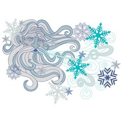 Old Man Winter embroidery design
