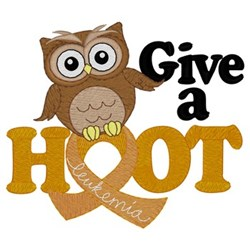 Give A Hoot - Leukemia embroidery design