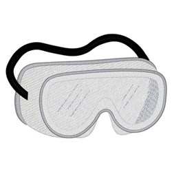 Safety Goggles embroidery design