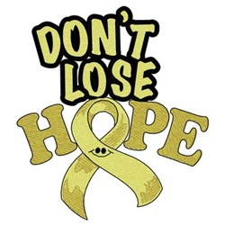 Dont Lose Hope Ribbon embroidery design