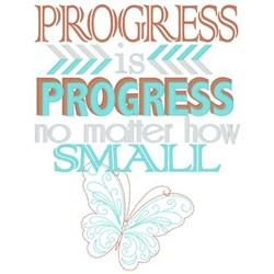 Progress is Progress... embroidery design