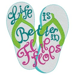 Better In Flip Flops embroidery design