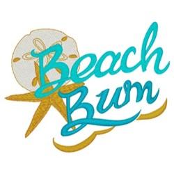 Beach Bun embroidery design