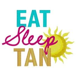 Eat Sleep Tan embroidery design