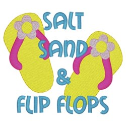 Salt, Sand, & Flip Flops embroidery design