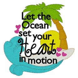 Let The Ocean embroidery design