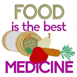 Food Is The Best Medicine embroidery design