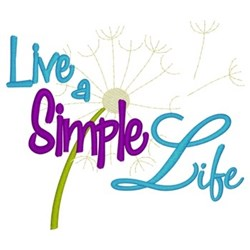 Live A Simple Life embroidery design