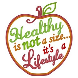 Healthy Lifestyle embroidery design