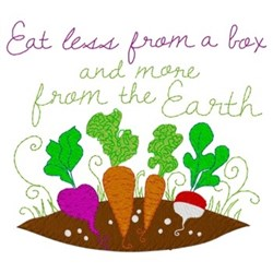 Eat From The Earth embroidery design