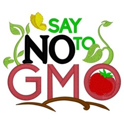 Say No To GMO embroidery design
