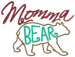 Momma Bear embroidery design