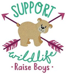 Support Wildlife embroidery design