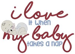 Baby Takes Nap embroidery design