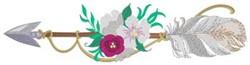 Flowers On Arrow embroidery design