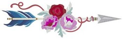 Flower & Ribbon Arrow embroidery design
