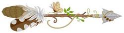 Nature Arrow embroidery design
