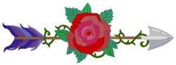 Rose Arrow embroidery design