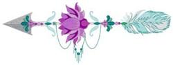 Lotus Arrow embroidery design