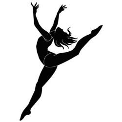 Female Dancer Silhouette embroidery design