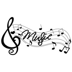 Music Notes W/ Hearts embroidery design