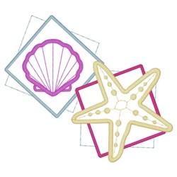 Seashell & Starfish embroidery design