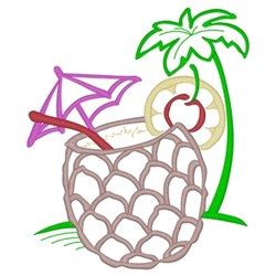 Pineapple Drink embroidery design