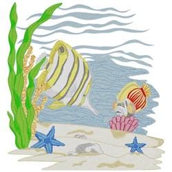 Underwater Scene embroidery design