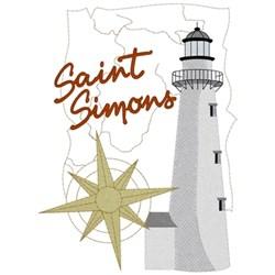 Saint Simons Lighthouse embroidery design