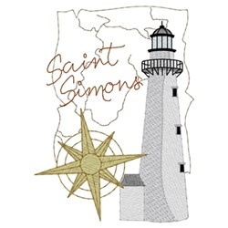 Saint Simons Lighthouse embroidery design