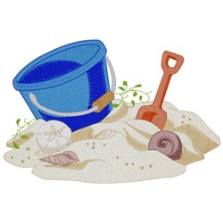 Sand Pail And Shovel embroidery design