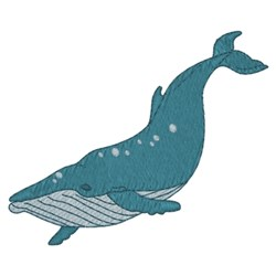 Humpback Whale embroidery design
