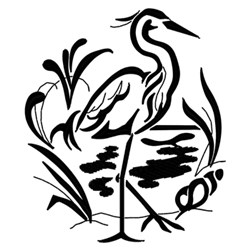 Heron On Beach embroidery design