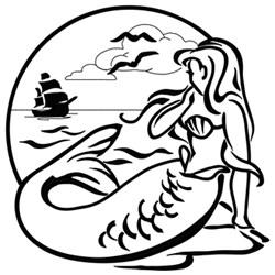 Mermaid Scene embroidery design