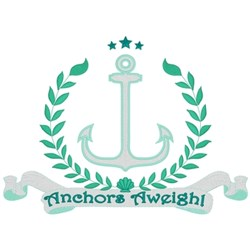 Anchors Aweigh embroidery design