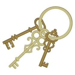 Antique Keys embroidery design