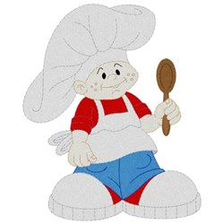 Chef Boy embroidery design