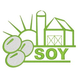 Soy Farm embroidery design