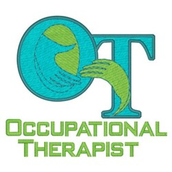 Occupational Therapist embroidery design