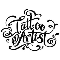 Tattoo Artist embroidery design