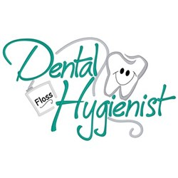 Dental Hygienist embroidery design