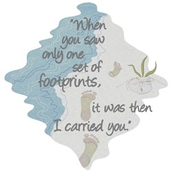 Footprints In The Sand embroidery design