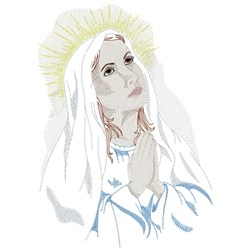 Virgin Mary embroidery design