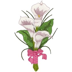 Calla Lily Bouquet embroidery design