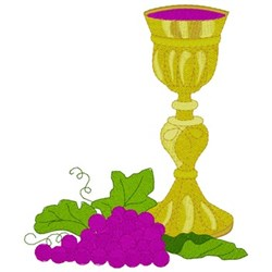 Grapes & Chalice embroidery design