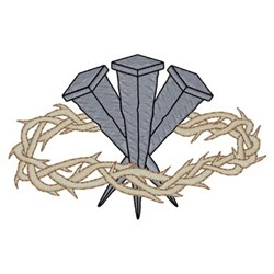 Sm. Crown Of Thorns embroidery design