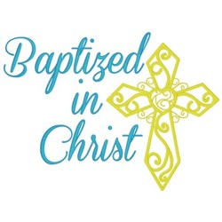 Baptism embroidery design