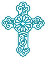 Outline Cross embroidery design