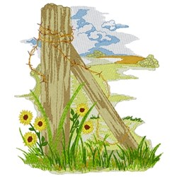 Prairie Scene embroidery design