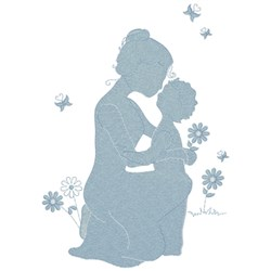 Mother & Child embroidery design